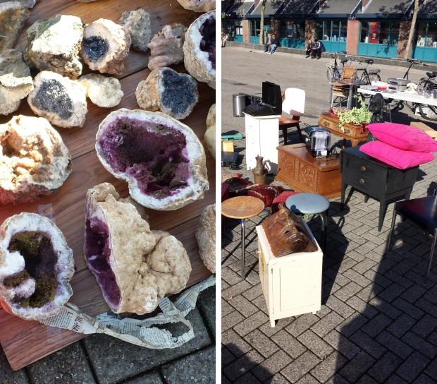Rommelmarkt Visserijplein Rotterdam stenen