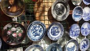 Delft antiek en curiosamarkt borden