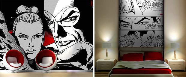 Diabolik retro behang slaapkamer go with the vlo