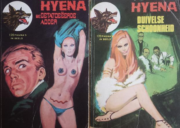 Hyena Duivelse Schoonheid vintage strip go with the vlo