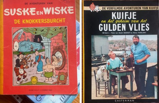 Suske en Wiske Kuifje boekenmarkt Dordrecht