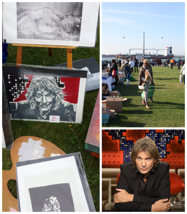 Matthijs van Nieuwkerk collage carboot Hoek van Holland