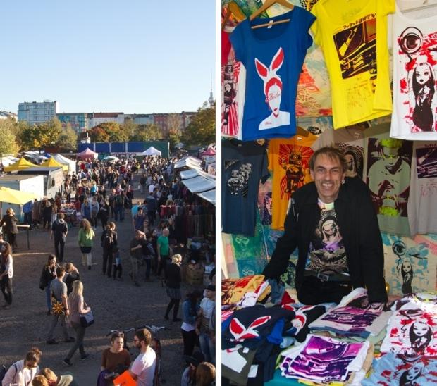 Vlooienmarkt in Mauerpark T-shirts