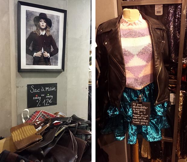 Kilo Shop Parijs tassen en leren jasje