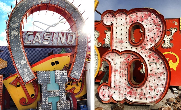 Neon Museum casino letters