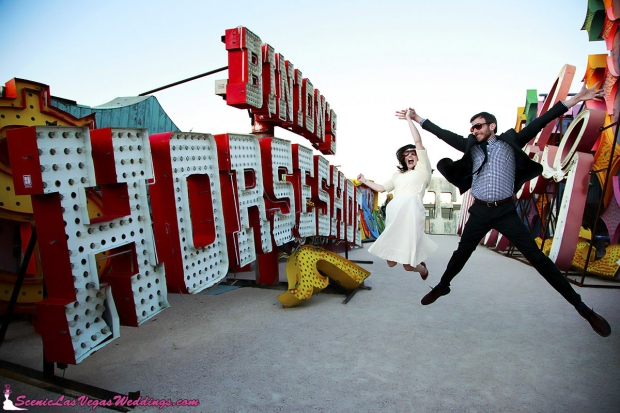 Neon Museum trouwreportage