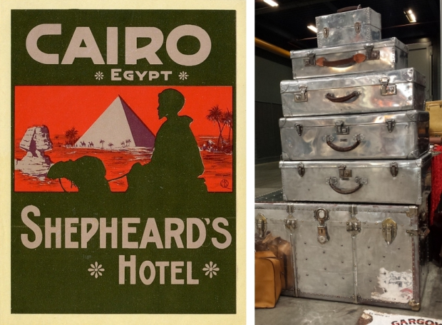 Vintage metalen koffers