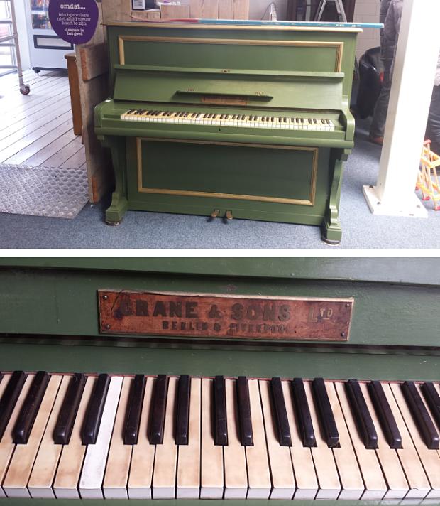 Groene piano kringloop Het GOED Vlaardingen