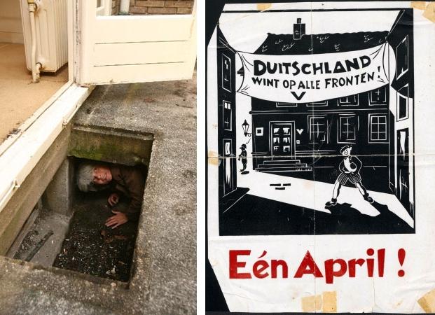 Amsterdam onderduiken en verzet pamflet