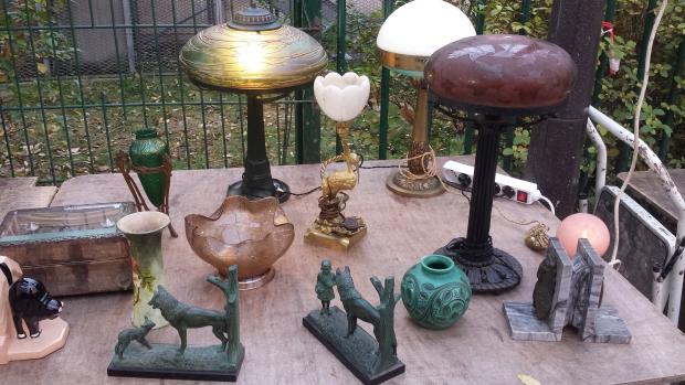 Parijs vlooienmarkt Vanves lampen