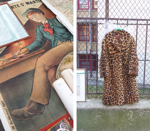 Parijs vlooienmarkt Vanves luipaardjas