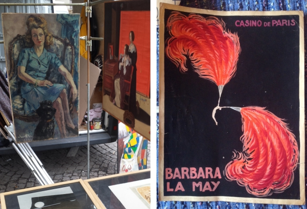 Parijs vlooienmarkt affiche Barbara La May
