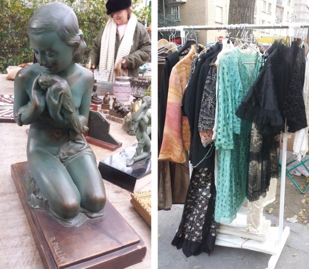 Parijs vlooienmarkt kleding
