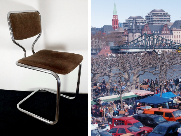 Frankfurt rommelmarkt buisframe stoel