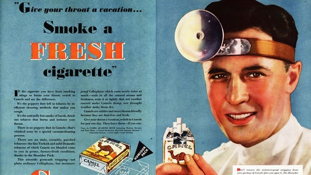 Oude rookreclame tandarts