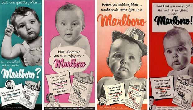 Oude rookreclames baby