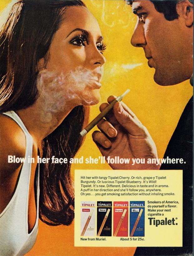 Oude rookreclames vrouwenmagneet