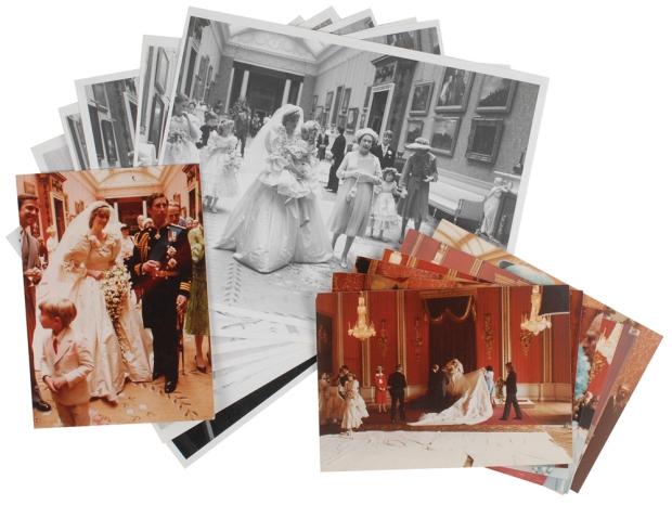 Charles Diana huwelijk veiling foto's