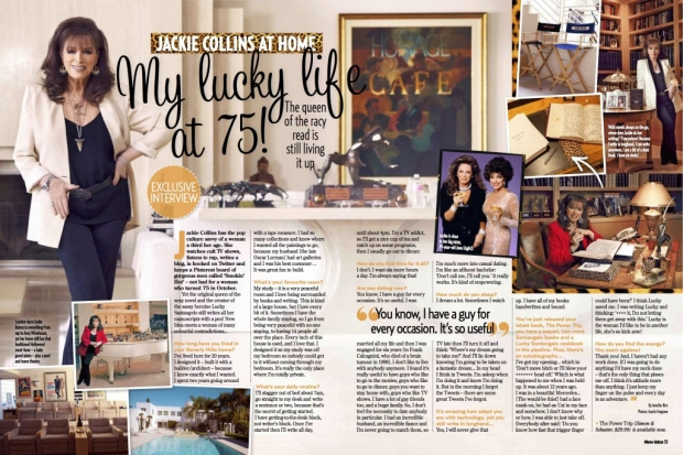 Jackie Collins interview thuis
