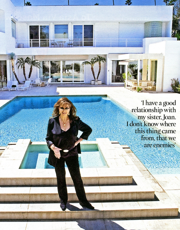 Jackie Collins thuis