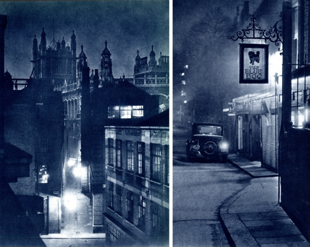 London at night oude pub foto