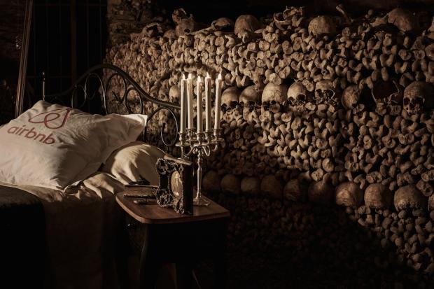 Slaapkamer Catacomben van Parijs kandelaar go with the vlo