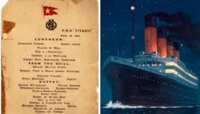 Titanic menu brengt 88.000 dollar op