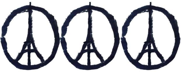 Parijs vredeteken terrorisme