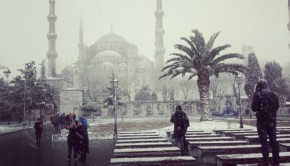 Blauwe Moskee sneeuw Istanbul copyright Danny Post banner