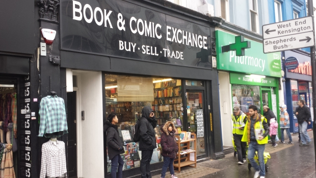 Book & Comic Exchange Londen Notting Hill boekhandel strips boeken