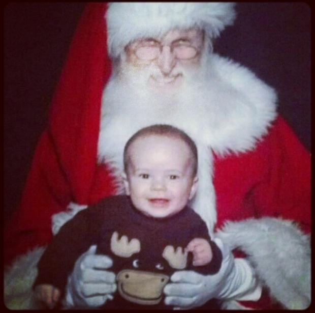 Enge kerstmannen griezelen baby horror