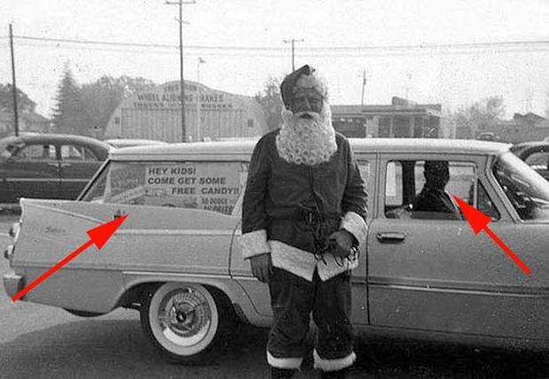 Enge kerstmannen oppikken horror griezelen