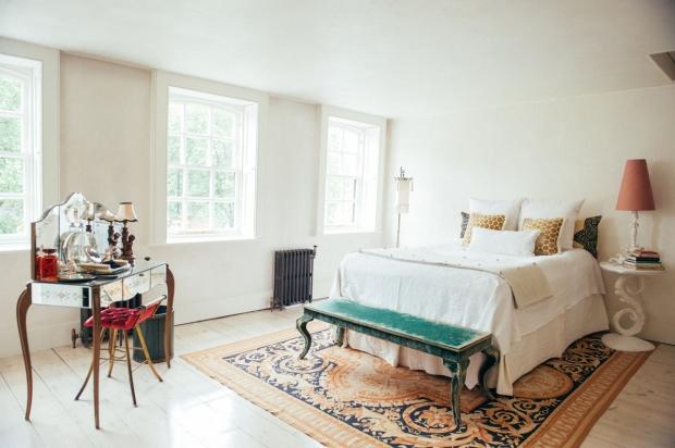 Hotel 40 Winks Londen vintage antiek slaapkamer