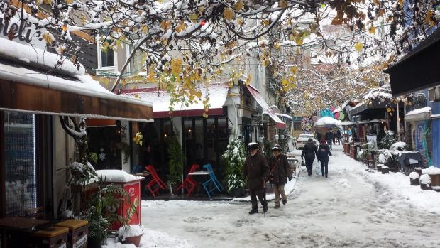 Istanbul sneeuw Karaköy copyright Danny Post