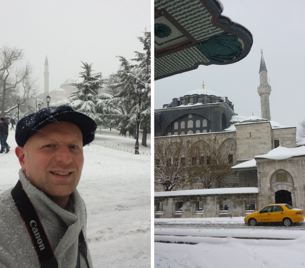 Istanbul sneeuw taxi moskee copyright Danny Post