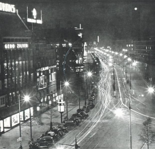Oud-Rotterdam Jungerhans Coolsingel nacht