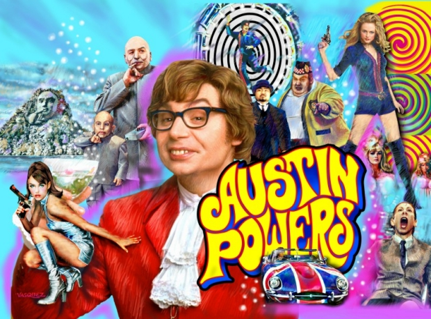 Austin Powers woning seventies go with the vlo