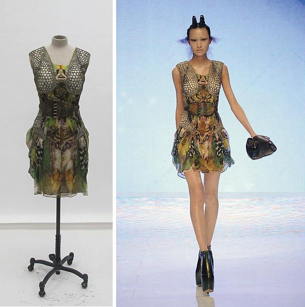 The Met Alexander McQueen jurken go with the vlo