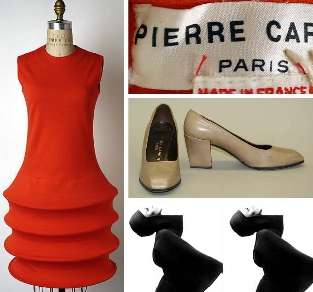The Met Pierre Cardin jurken go with the vlo