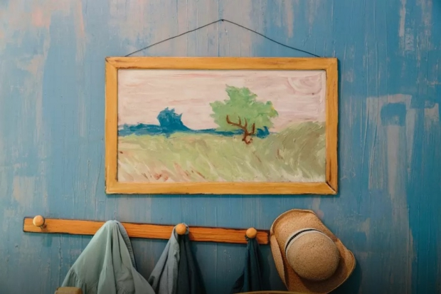 Overnachten in een schilderij Vincent Van Gogh hoed go with the vlo