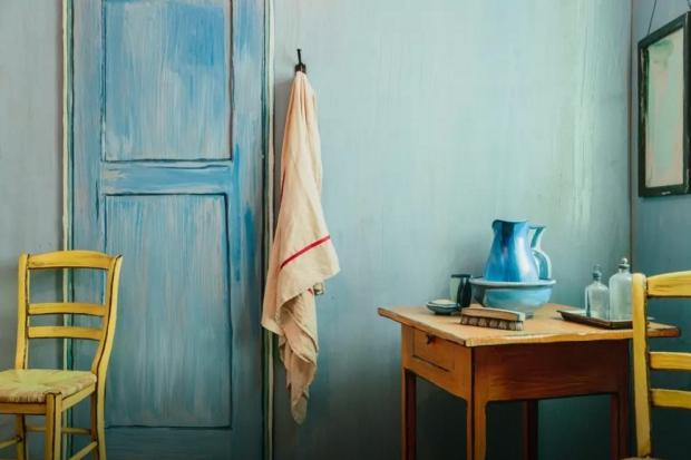 Overnachten in een schilderij Vincent van Gogh tafel go with the vlo