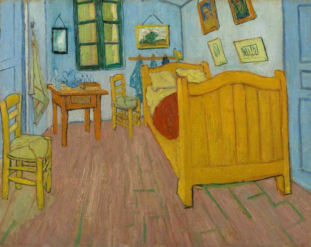 Vincent van Gogh De slaapkamer schilderij go with the vlo