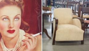 Waar rook is, is dit elegante art deco stoeltje