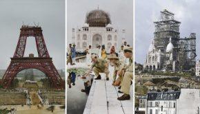 De bouw van iconische landmarks … in kleur