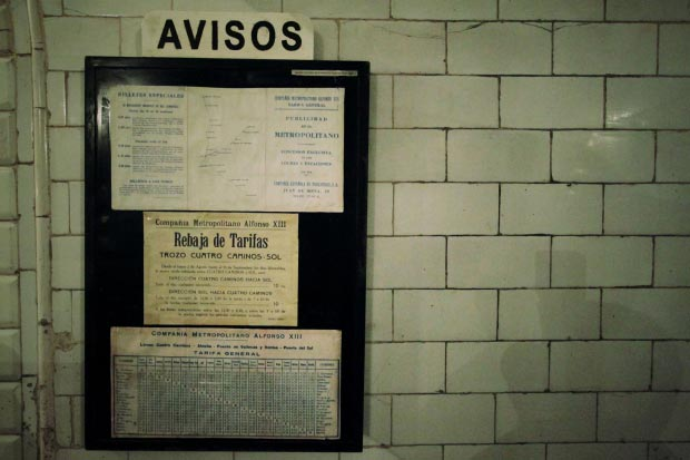 Madrid metrostation go with the vlo 12