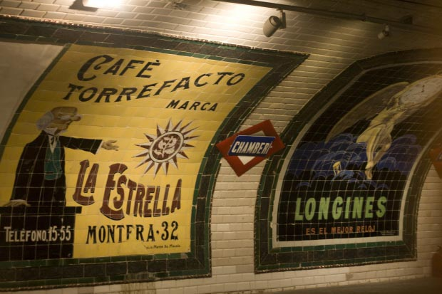 Madrid metrostation go with the vlo 24