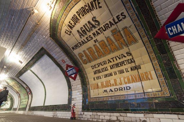 Madrid metrostation go with the vlo 5