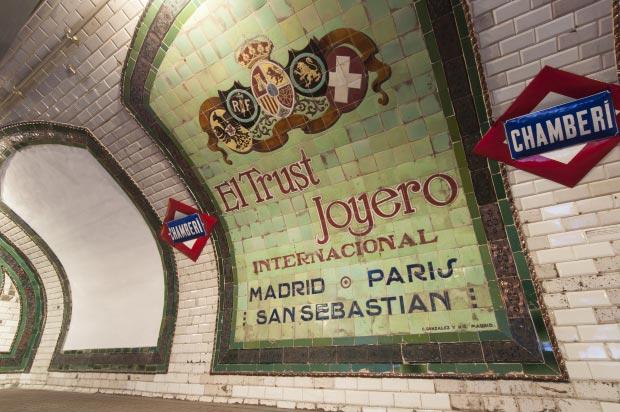 Madrid metrostation go with the vlo 7