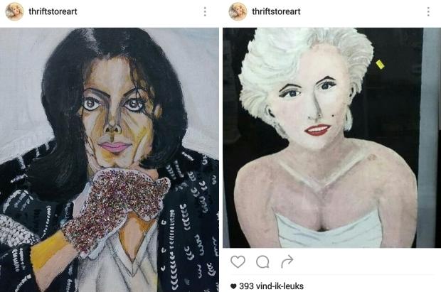 Kringloopkunst Marilyn Monroe go with the vlo