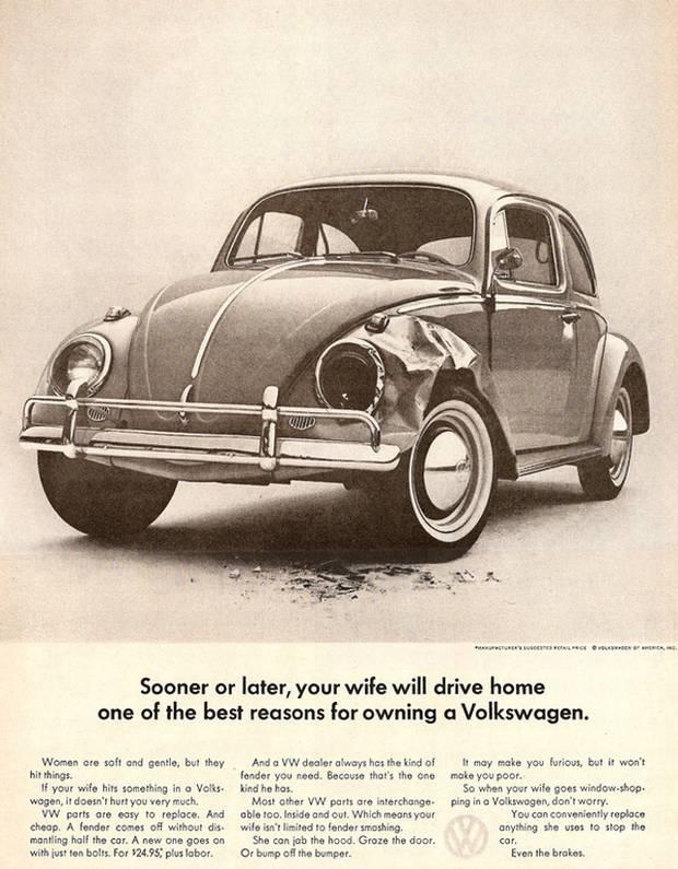 Seksistische reclames go with the vlo Volkswagen